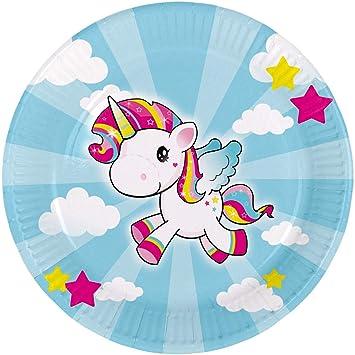 NET TOYS 8 Platos de Unicornio | 23 cm de diámetro | Mágica ...