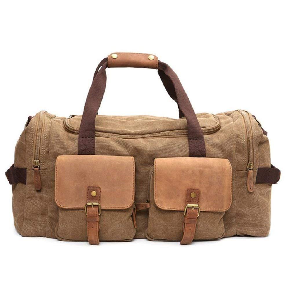 アウトドアバックパックアウトドアキャンバス男性と女性の一般的なショルダーバッグ、旅行旅行多機能ハンドバッグ、55リットル大容量実用的なショルダーバッグ B07T6YHWPQ C 36-55L