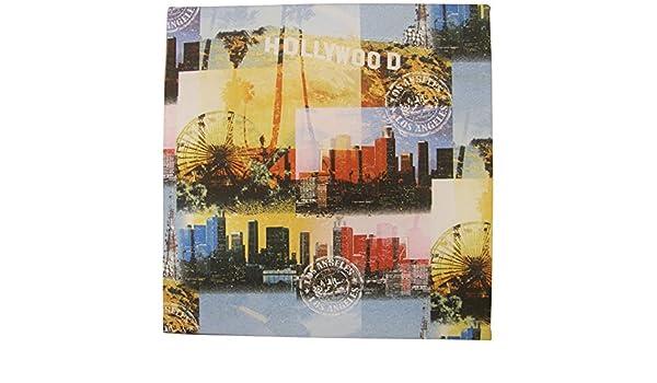 LA paisaje urbano de Hollywood de noria cortina de ducha de tela ...