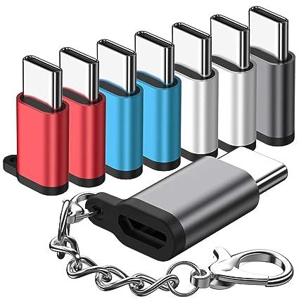 Amazon.com: Adaptador micro USB a USB C, (paquete de 8 ...