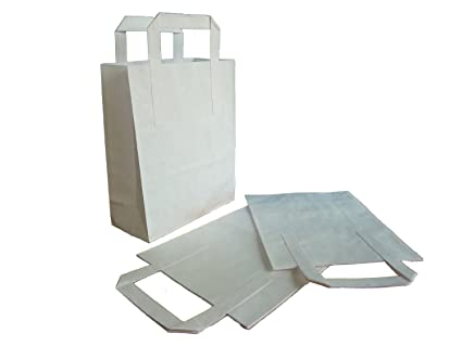 Thali Outlet® - 750 x bolsas de papel Kraft blanco SOS bolsa ...