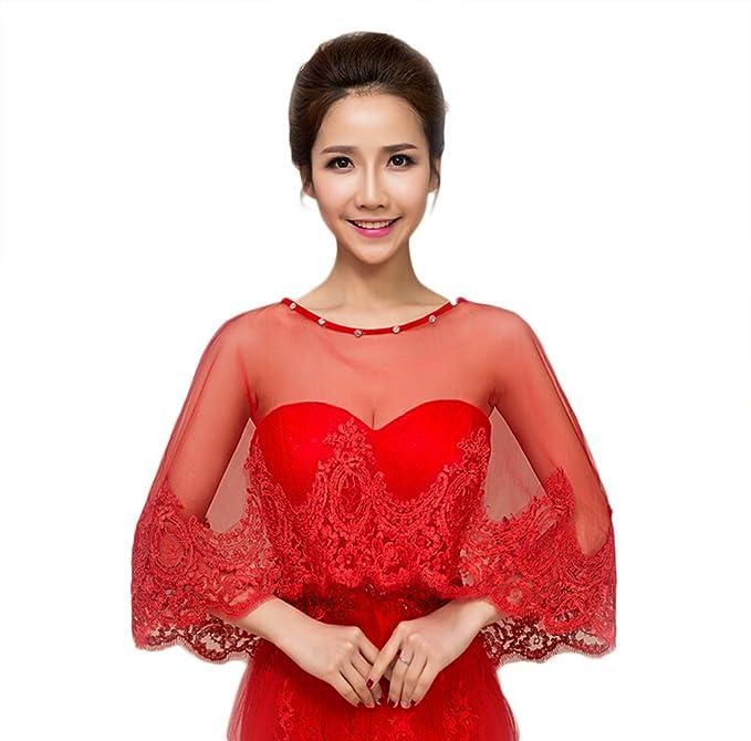Chal de encaje version juvenil adecuado para vestidos rojos.