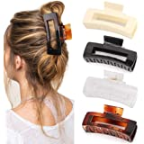 Canitor 4.1 Inche Large Hair Claw Clips 4 PCS, Hair Clips for Thick Hair Acrylic Banana Claw Clips Non-slip Hair Clip Rectang