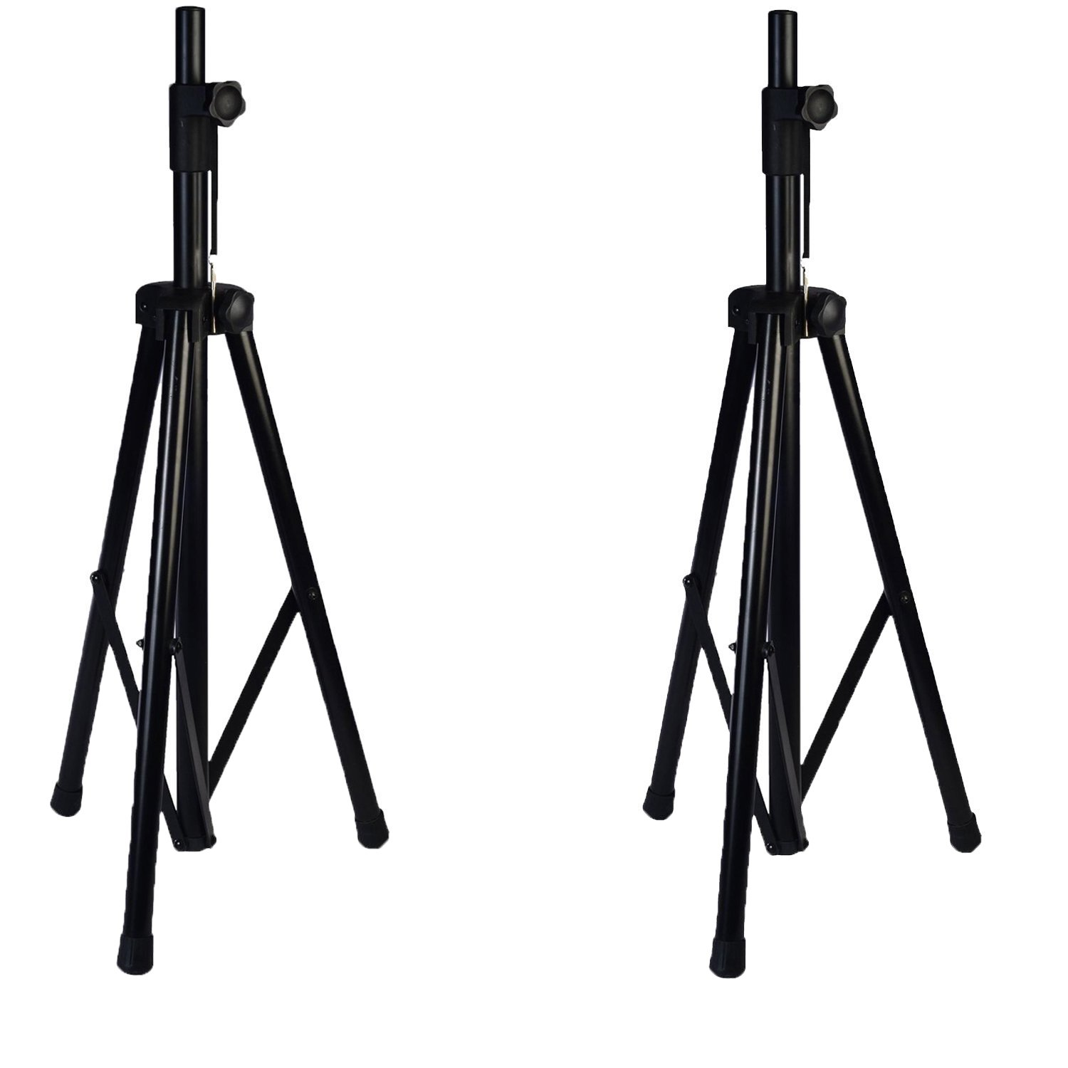 Pair of LyxPro SKS-1 Tripod Speaker Stand, Up to 6 Feet Adjustable Height, Non Slip Feet, Locking Knob and Pin, For Speakers w/ 1-3/8 and 1-1/2 Sockets - Black by LyxPro