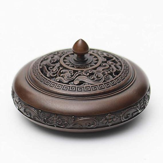 芳香器・アロマバーナー フラットカバー付き円錐コーン磁器磁器アート香炉で使用純銅香炉 アロマバーナー芳香器