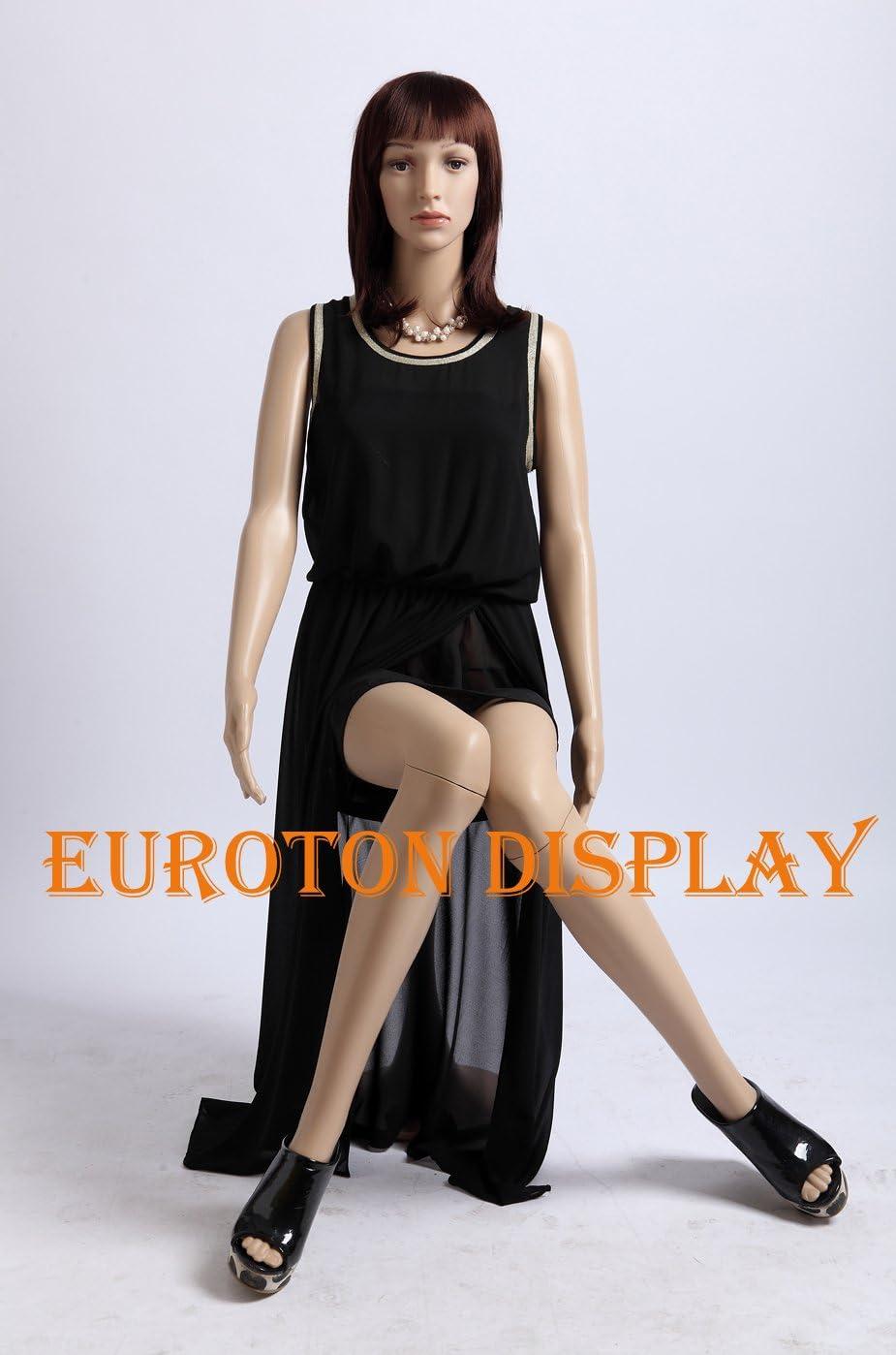 Tonhan SF-7 Mannequin de vitrine f/éminin avec 2 Perruques Mouvement Couleur Chair