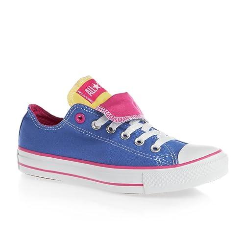 Converse All Star Doble Lengua Zorro Zapatillas Azul - Azul, niños, 6 Niños GB: Amazon.es: Zapatos y complementos