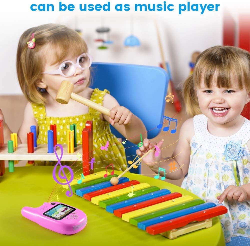 CrazyFire 4 In 1 Wiederaufladbar Kinder Gegensprechanlage 2 STK Spielzeug und Geschenk f/ür Kinder Blau Gegensprechanlage//Foto//Video//Audio // 3 Spiele f/ür Kinder Walkie Talkie