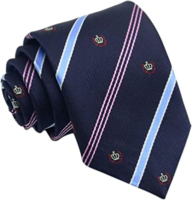 Leisial™ Corbatas de Señores Raya Anchas Traje Corbata Estrecha ...