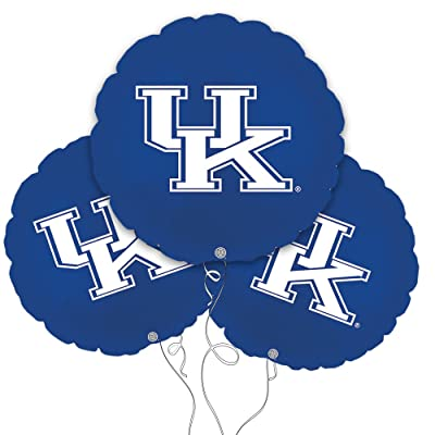 "Party Explosions University of Kentucky 18"" Mylar Balloon 3pk: Toys & Games"