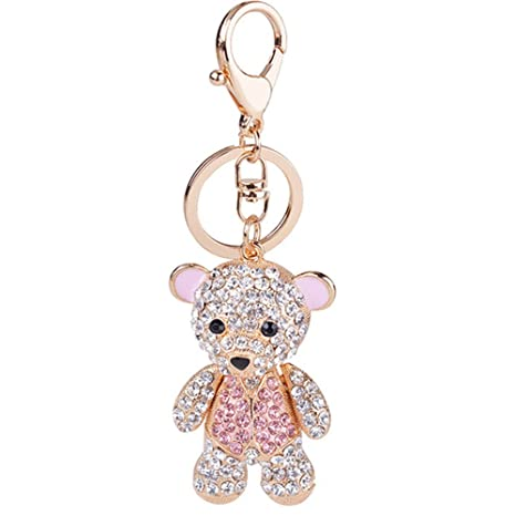 Amazon.com: Lindo Kawaii Crystal Rhinestone UNA feliz oso ...