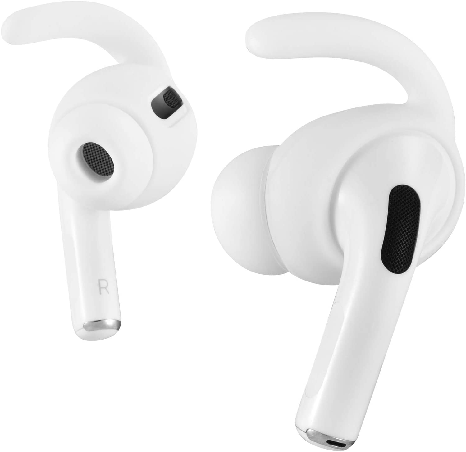 - White 3 Pairs Ear Hooks Compatible with Apple AirPods Pro with Storage Pouch ICARERSPACE Anti-Lost Ear Hooks Ear Covers for Apple AirPods Pro AirPods 3