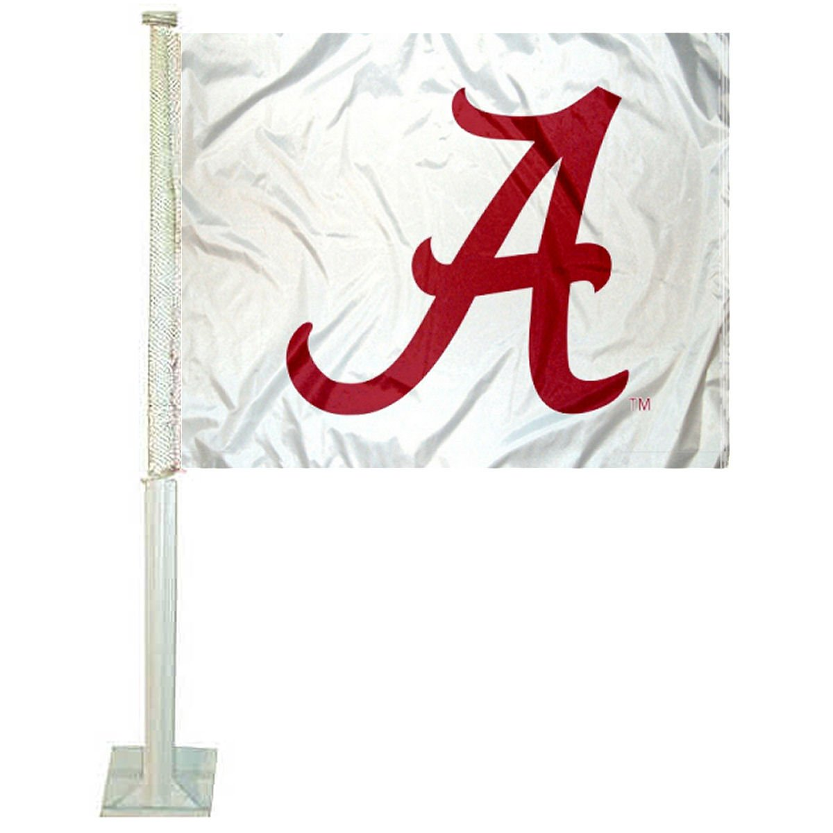 College Flags and Banners Co Alabama Crimson Tide White Car Flag