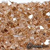 8 Pound Container of 1/4'' Copper Penny Metallic Fireglass