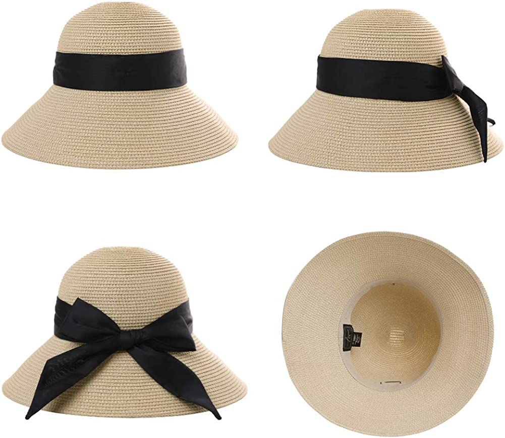 UPF 50+ estivo Comhats Cappello da sole pieghevole da donna cappello da spiaggia con sottogola