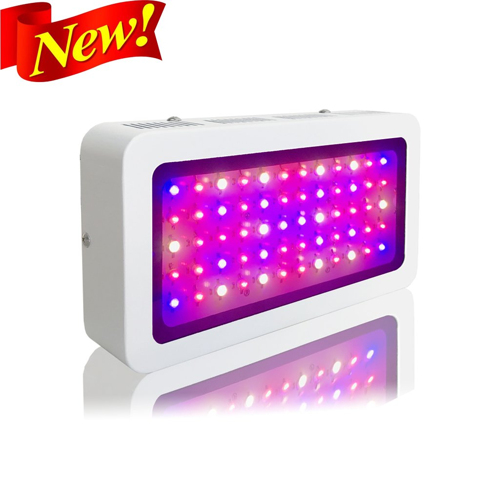 Adjustable Dual Head Timing Growing Lamp 20W 9 Dimmable Levels 20W LED Grow Light with 40 Red Blue Spectrum LEDs 3//9//12H Timer