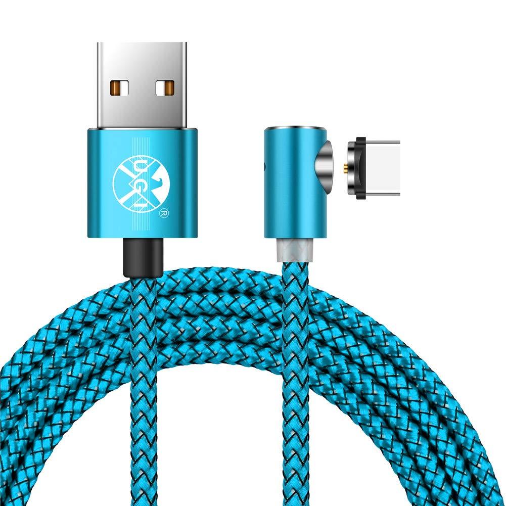 MP3 und mehr Magnetische 90 /° Ellenbogen Micro USB Runde Magnetic 2.4A Schnell Ladekabel LED f/ür Sam Sung Galaxy S7 Rand // S7 // S6 // S4 // S3 Kindle nur Lade