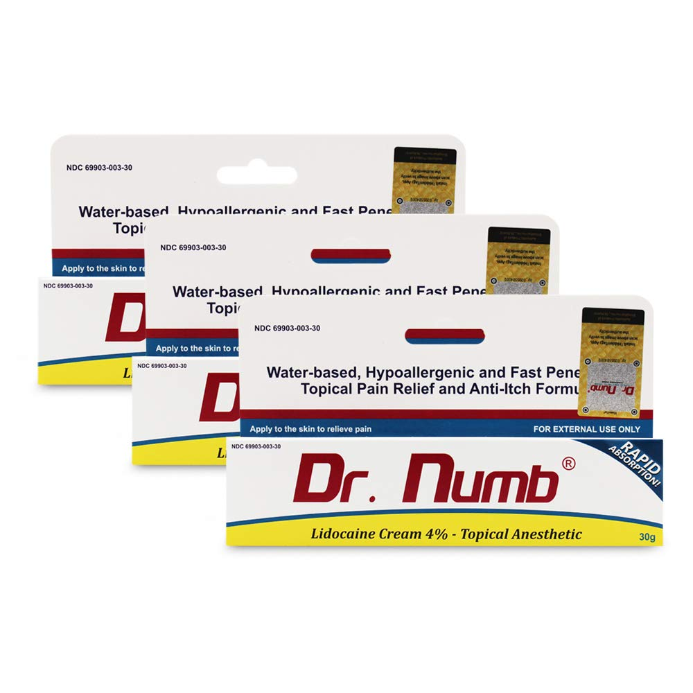 Amazoncom 1 Tube Of Dr Numb Maximum Topical Anesthetic Anorectal