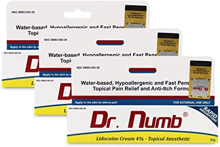 Amazon.com: Dr. Numb Cream 4% Topical Anesthetic, 30 Gram ...