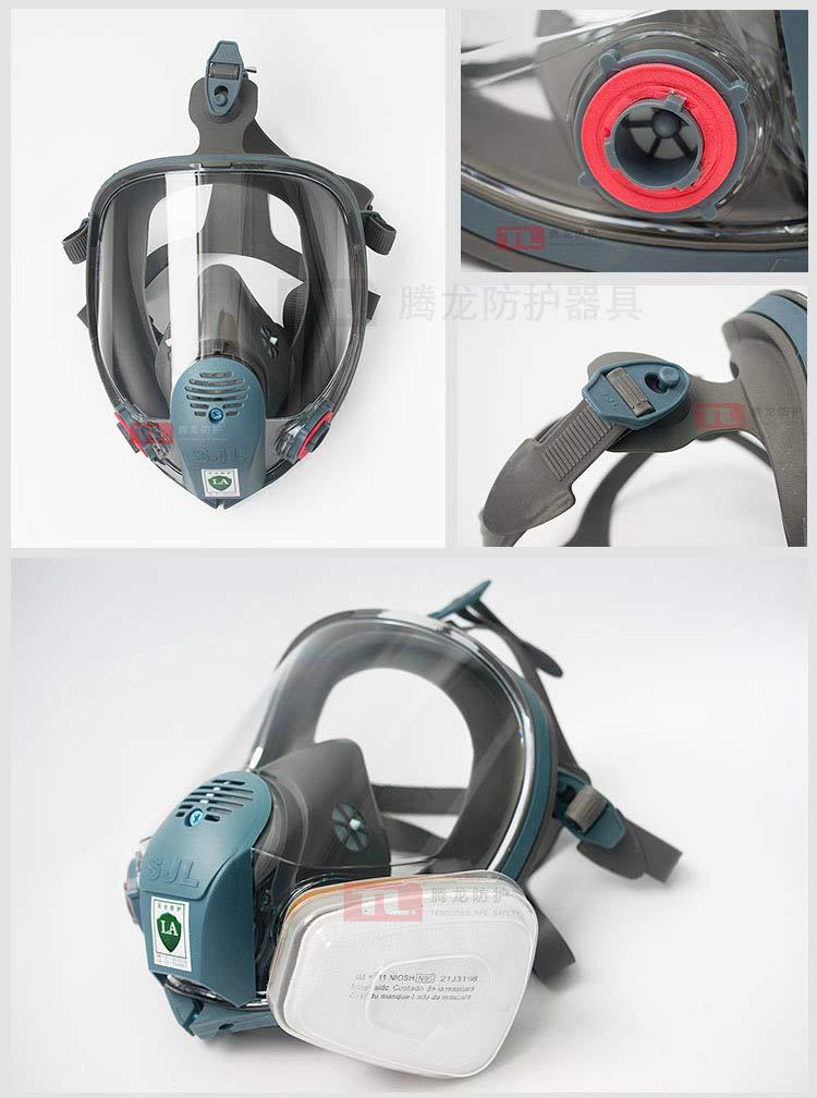 Carbon Fiber Filter,Separator,Regulator Fresh Air Fed Full Facepiece Kit for Paint Spray Gas Respirator SAS Fresh Air Breathing Systems