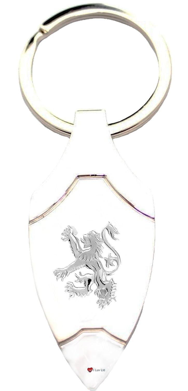 【通販 人気】 Silver Gift Scottish Rampant Lion B007OBJTK0 Embossed Dagger Shape Metal Metal Keyring Perfect Gift B007OBJTK0, 黒田庄町:aab9e3d2 --- yelica.com