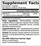 Doctor's Best Natural Vitamin K2 MK-7 with MenaQ7, Non-GMO, Vegan, Gluten Free, Soy Free, 100 mcg, 60 Veggie Caps - 61o 8WDZW4L - Doctor's Best Natural Vitamin K2 MK-7 with MenaQ7, Non-GMO, Vegan, Gluten Free, Soy Free, 100 mcg, 60 Veggie Caps