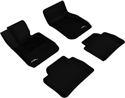 Kagu Rubber Black 3D MAXpider Front Row Custom Fit All-Weather Floor Mat for Select BMW 3 Series Models