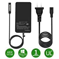 Surface Pro/Pro 2 Charger, HUNDA 48W 12V 3.58A Power Supply Compatible Microsoft Surface Pro/Pro 2 10.6 Windows 8 Tablet, with 6Ft Power Cord.