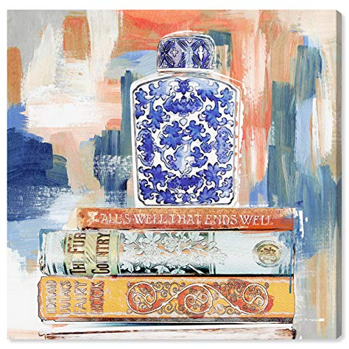 The Oliver Gal Artist Co. World and Countries Wall Art Canvas Prints 'Julianne Taylor - Vintage Collection Books Calm' Home Décor, 43