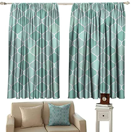 Amazon.com: navy curtains Turquoise Decor Collection,Lined ...