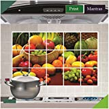Asmi Collections Fruits and Vegetables Wall Stickers For Kitchen