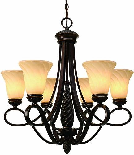 Golden Lighting 8106-6 CDB Torbellino Chandelier, 27-1 2-Inch W by 28-1 2-Inch H, Cordoban Bronze