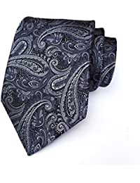 Men's Paisley Jacquard Woven Silk Tie Luxury Formal Party Suit Necktie