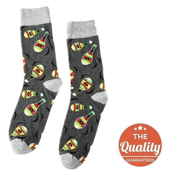 DOTBUY Medias Novedad Calcetines, Personalidad Hombres Mujer Unisexo Elástico Deportes Socks (Bolos)