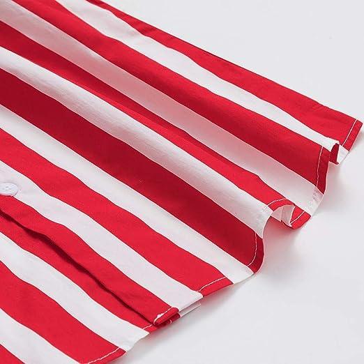 Amazon.com: MOSERIAN Mens Shirt Striped American Flag Stars ...