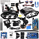 Kuman Wireless Wifi manipulator Robot Car Kit for Arduino,utility Vehicle Intelligent Robotics, Hd Camera Ds Robot Smart Educational Kits by iOS android PC Controlled with Video Tutorial Sm5-1