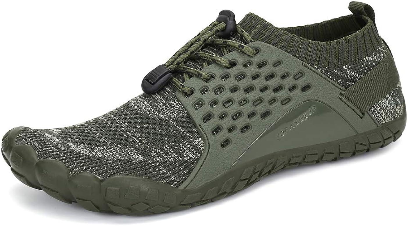 Oberm Zapatillas de Correr para Hombre, Minimalistas, con Puntera Ancha, Zapatos de Agua, (Verde 1), 42.5 EU: Amazon.es: Zapatos y complementos