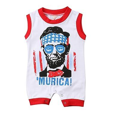 0e2b194ad Amazon.com  Winagainer Newborn Infant Baby Boy Sleeveless Cotton ...