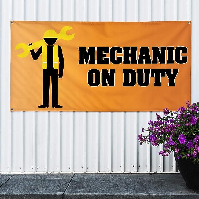 Amazon.com: Cartel de vinilo mecánico en servicio. #3 ...