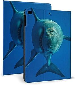 IPad Fierce Shark Case with Auto Sleep/Wake, Shockpoof Case, Universal PU Leather Flip IPad Case Cover,Magnetic Case for Apple IPad Mini/Air