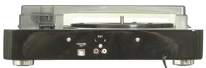 Tocadiscos de vinilo USB 33/45/78 RPM, con software cordón ...