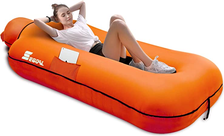 30GO Inflatable Lounger Air Sofa-Portable,Inflatable Couch,Waterproof Anti-Air Leaking for Indoor//Outdoor Camping Hiking Travel Pool Beach Picnic Backyard Lakeside