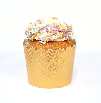 Pastel - Tazas para repostería (50 unidades), diseño de cupcakes: Amazon.es: Hogar