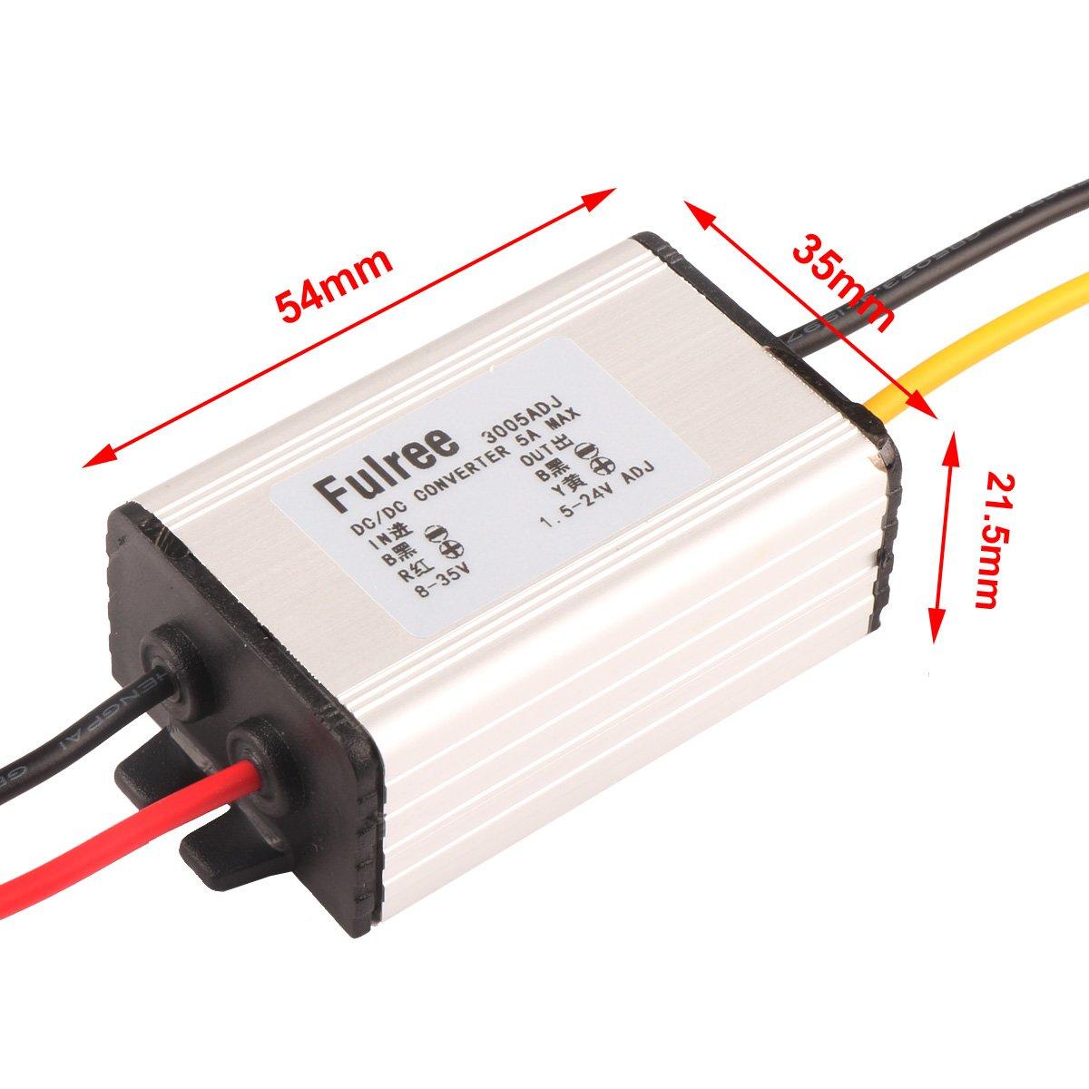 Volt Converter Drok Dc Regulator 8 35v 5v 4a Step Down Circuit In Forward Topology 24v 12v To 15 12 V 5a Adjustable Voltage Module Industrial Scientific