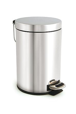 Acero inoxidable cubo de basura con pedal, 30 litros de ...
