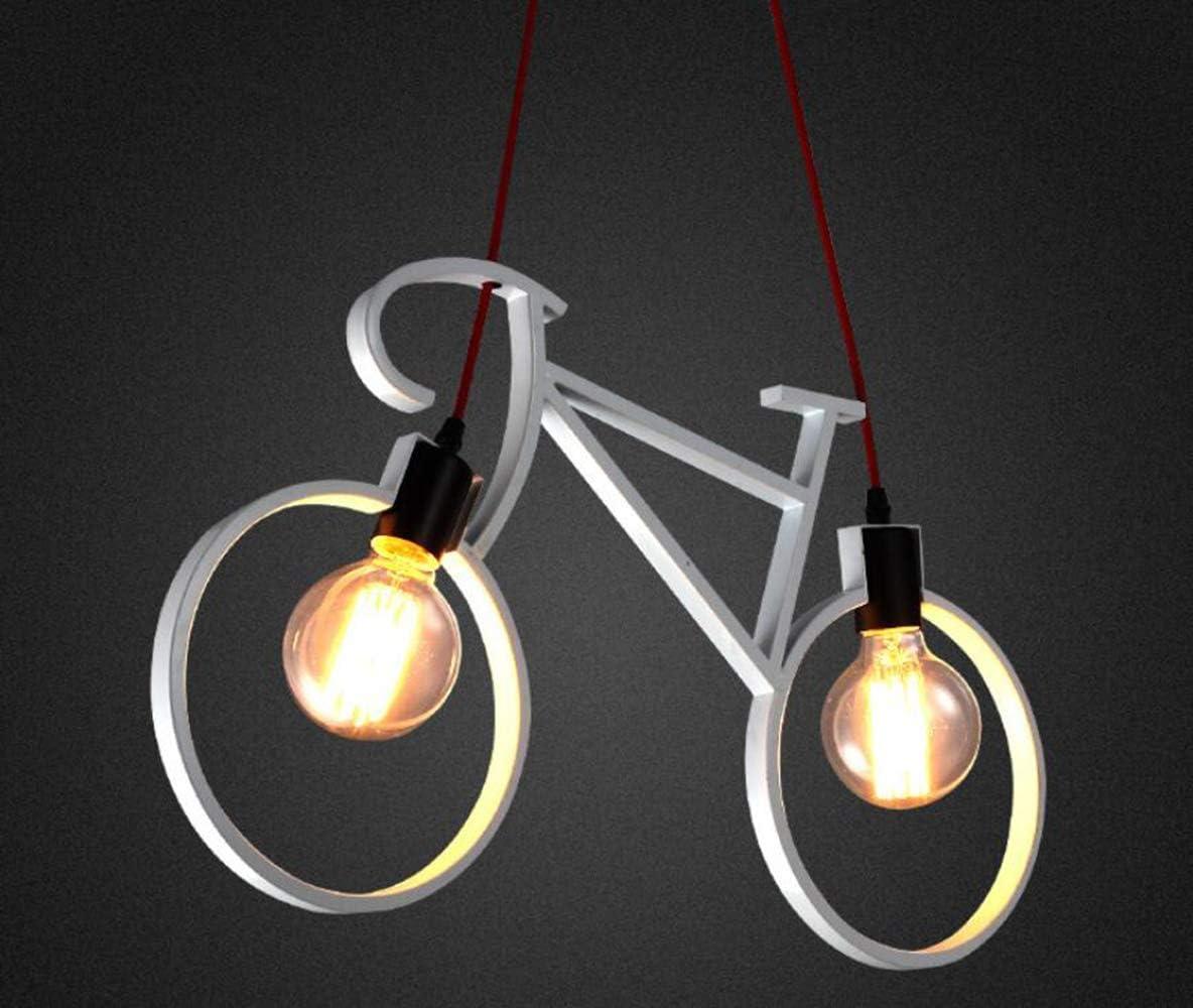 HUAXUE ZHXZHXMY Boutique Lighting - LED de la lámpara de Bicicletas, Área de Arte del Restaurante Los niños de la lámpara, destacado Pasillo del Pasillo Balcón Claro, Blanco