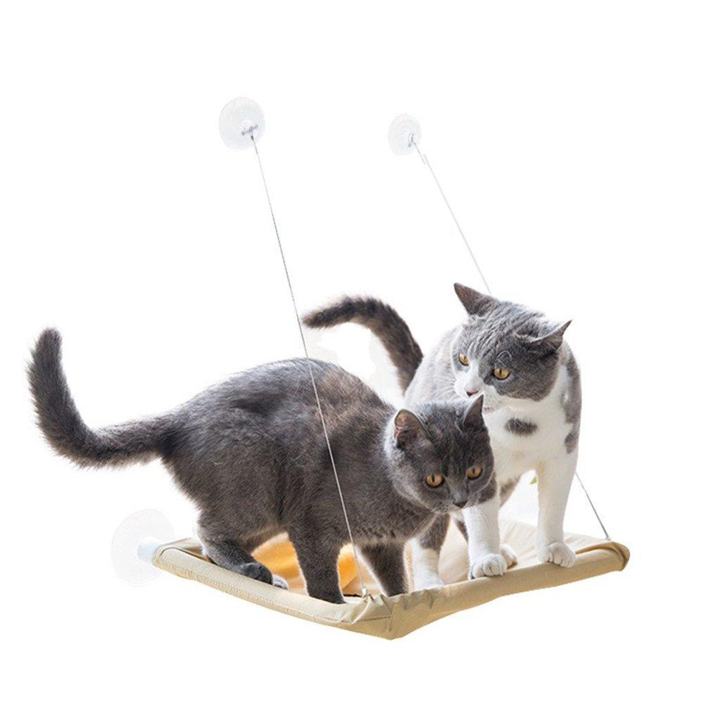 Jenify Hanging Cat Bed Mat Soft Cat Hammock Window Hammocks Kennels 15KG Cat Safe Hanging Shelf Seat Beds Cover Cushion