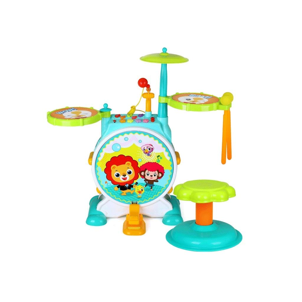 X-Kindertrommel Kindertrommeln Anfänger Früherziehung Puzzle Jazz Drums Beat Drum Musikspielzeug 3-6 Jahre Alt (Farbe   B) A
