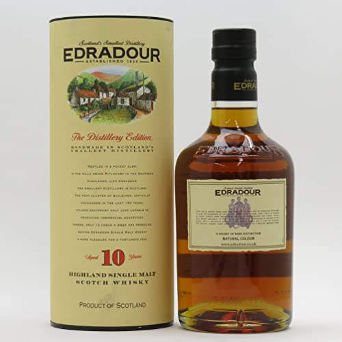 Edradour 10 Year Old Single Malt Scotch Whisky, 70 cl