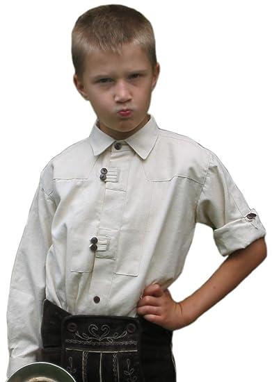 Niños Camisa Traje típico de Salzach Niños de camisa de algodón ...